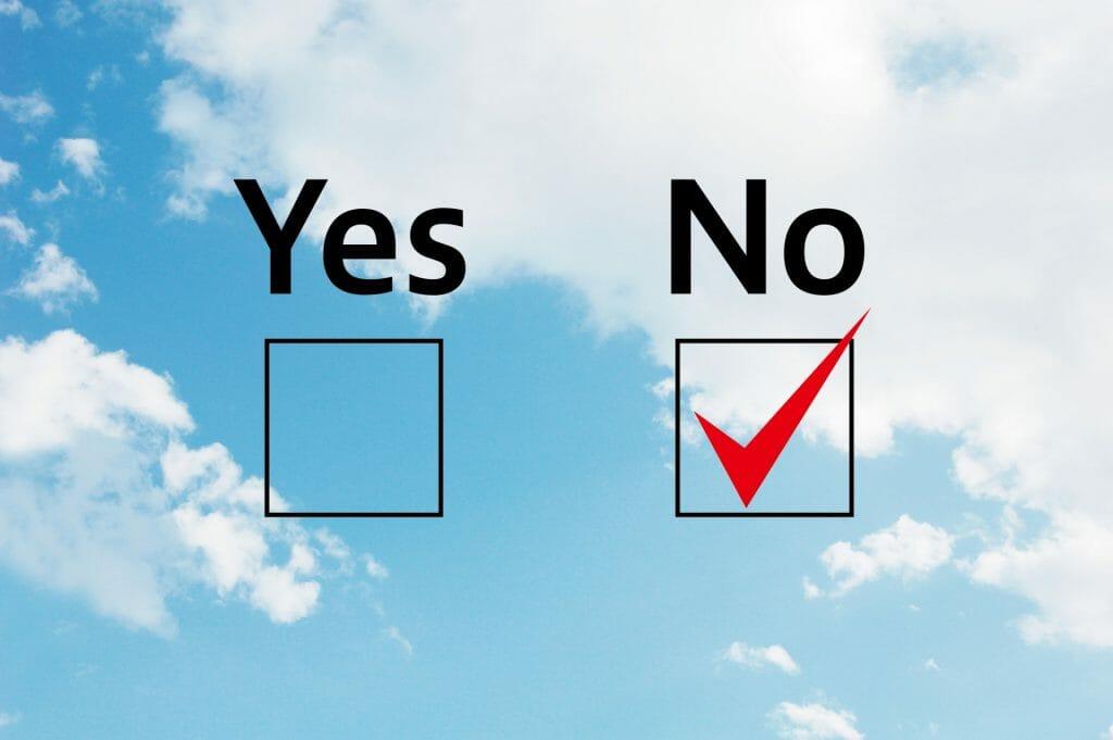 査定金額に不満がある場合ははっきり「NO」と意思表示をしよう!